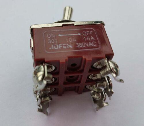 2 un tpst de encendido//apagado interruptores De Palanca Industrial 301 triple poste solo tiro