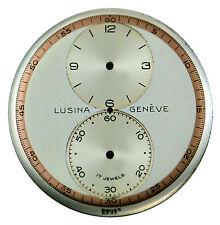 Vintage Original NOS Lusina Genève Regulator Wristwatch Dial, Swiss 1940s