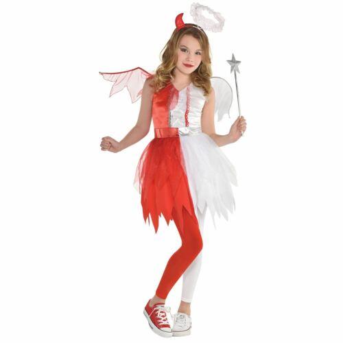 Girls Angel Devil Halloween Heaven Hell Fancy Dress Costume