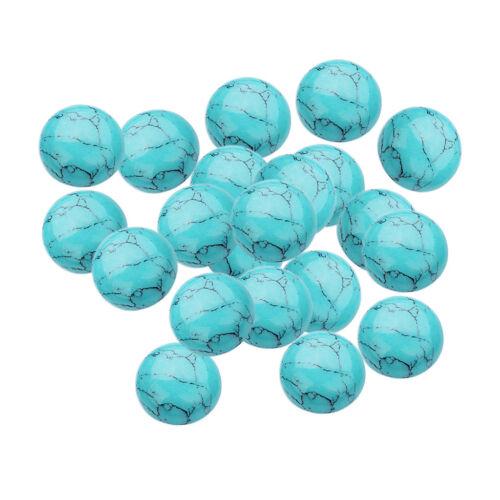 20 8mm Cabochon Stone Beads Semi-precious Charms Flatback DIY Jewelry Making