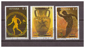 Guyane-Olympiques-Jeux-D-039-Ete-1988-Seoul-Minr-2061-2063-1987-Used