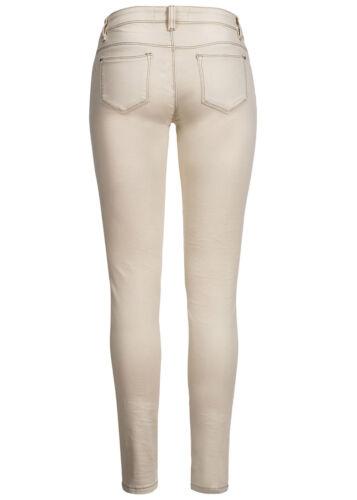 50/% OFF B15030297 Damen Madonna Jeans crashed 5-Pocket Destroyed Look Cuts beige