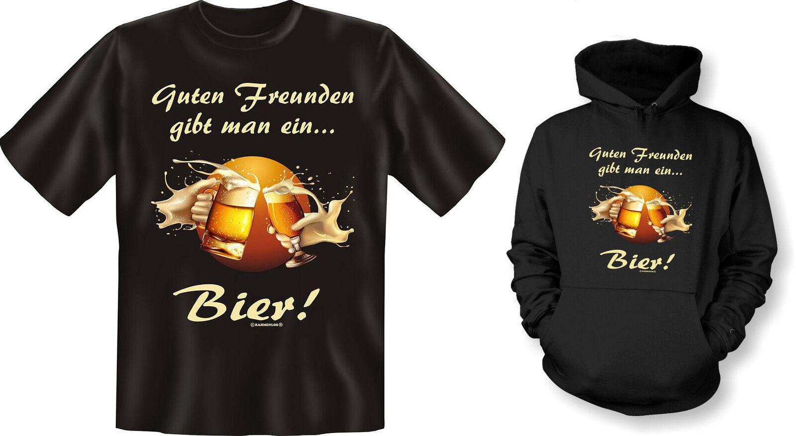 Kapuzenshirt Hoodie od. T-Shirt Guten Freunden gibt man ein Bier  NEU  | Online Shop Europe  | Bunt,  | Deutschland Store