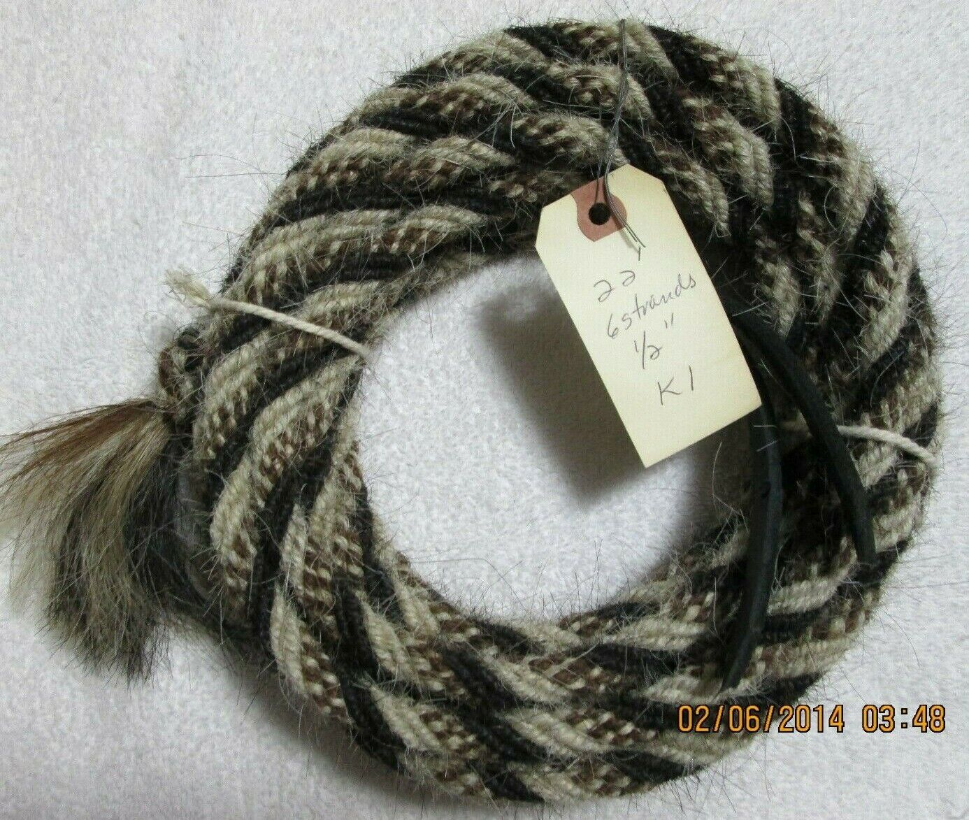 """Pattern N13 Mane Horse Hair Mecate 22 ft 5//8/"""" diameter"""