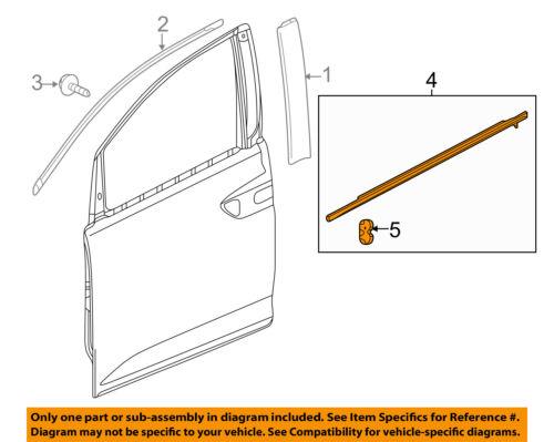 HONDA OEM Odyssey-Door Window Sweep-Belt Molding Weatherstrip Right 72410TK8A11