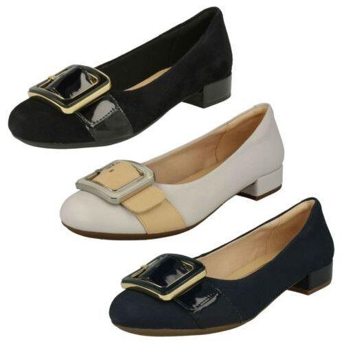 Damen Clarks einschlüpf niedrig Absatz Schuhe Rosabella Faye