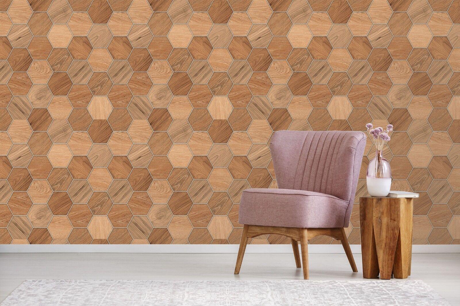 3d Hexagonal Wall Braun Wood 3 Texture Tiles Marble Wall Hexagonal