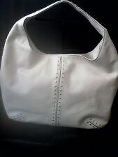 Michael Kors Ivory Leather Studded  Shoulder Bag