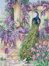 Cross Stitch Kit ~ UK-Imported Maia Bright & Colorful The Peacock #M01027