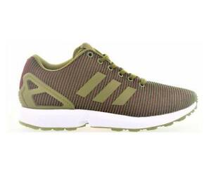 buy popular b2327 d8755 Details about Mens ADIDAS ZX FLUX Green Trainers BA7403