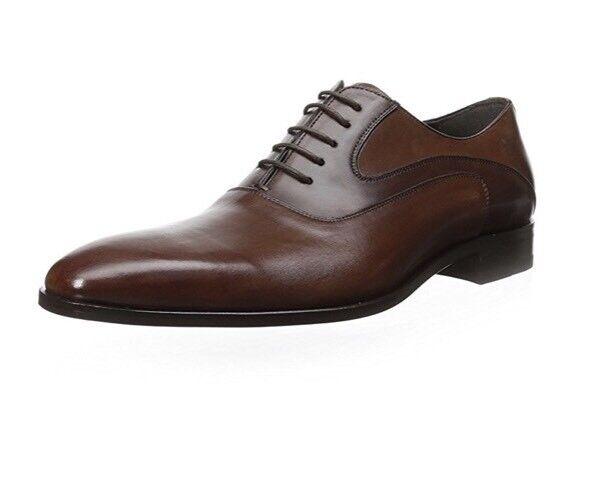 NWOB Mezlan  Amaral  COGNAC Brown Leather Oxford shoes 10 Medium