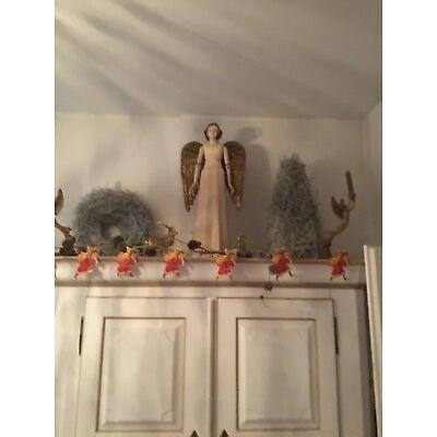 Großer Engel mit Faltenkleid   Creme - Reproduktion  impressionen Shabby Chic