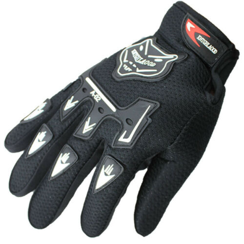 Nylon Motorcycle Gloves Moto Cycling Motocross Gloves Racing Full Finger Leather