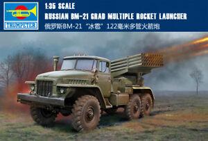 Details about RUSSIAN BM-21 GRAD MULTIPLE ROCKET LAUNCHER 1/35 Rocket gun  Trumpeter model kit