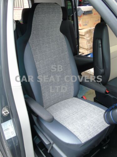 MARBLE GREY// LEATHERETTE TRIM i TO FIT A TOYOTA LANDCRUISER CAR SEAT COVERS