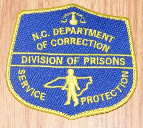 LARGE North Carolina Dept of Corrections Division of Prisons Shoulder Patch