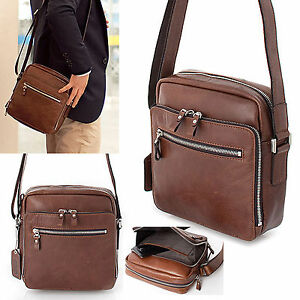 Genuine Leather Man s Bag Small Business Bag Messenger Shoulder Bag ... f813b3e0494e5