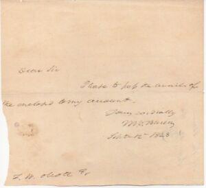 President-MARTIN-VAN-BUREN-letter-signed-2-times-1828