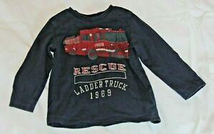 Gap-Red-Fire-Truck-Navy-2-Years-Long-Sleeve-Toddler-Shirt