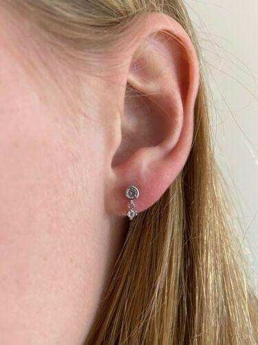 LADIES GIRLS FASHION SILVER STUD EARRINGS PAIR 2714 NEW UK SELLER