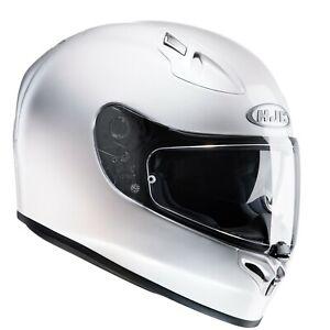 HJC-FG-ST-Plain-Pearl-White-Full-Face-Motorcycle-Helmet-Crash-Helmet-NEW