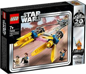Lego-Star-Clone-Wars-75258-ANAKIN-039-S-PODRACER-20TH-ANNIVERSARY-Padme-Luke-SEALED