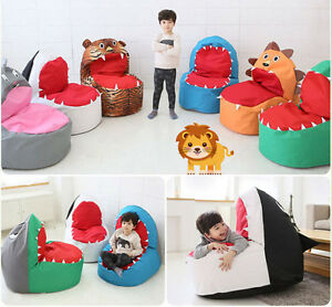 Baby Infant Toddler Kids Bean Bag Chair Sofa Safari