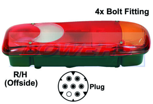 VIGNAL REAR RIGHT HAND OFFSIDE TAIL LAMP LIGHT CITROEN RELAY TIPPER CHASSIS CAB