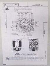 Sams Photofact Folder Parts Manual Sylvania Remote Control RC11
