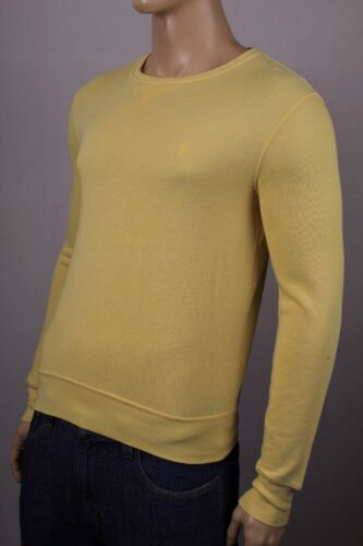 Polo Ralph Lauren Yellow Terry Cloth Cotton Sweatshirt NWT