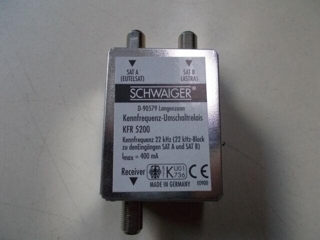 Schwaiger Kennfrequenz-Umschaltrelais KFR 5200, #K-54-24