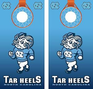 UNC-North-Carolina-Tar-Heels-Basketball-Cornhole-Board-Decal-Wrap-Wraps
