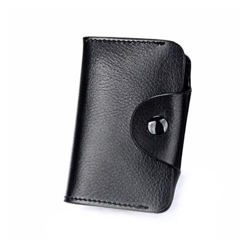 Mens Wallet Credit Card Holder Genuine Leather RFID Blocking Pocket Holder