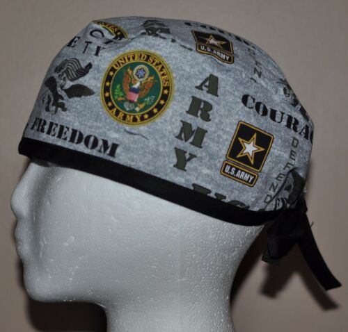 One size fits most US Army Patriotic Men/'s Scrub Cap//Hat