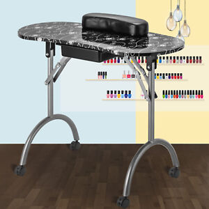 Manicure Nail Table Portable Station Desk Spa Beauty Salon Equipment ...