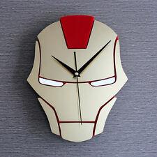 "Hero Iron Man Fashion Creative Wall Clock 3D Watch Kids 12"""