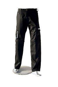 Original-Shimano-Mechanikerhose-Cargohose-schwarz-Beine-abtrennbar-Reissversch