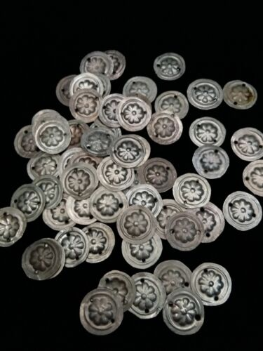 Style 1 25 Small Tribal Amulets Medallions with Floral Motif