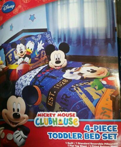 Disney Mickey Mouse 4 Piece Toddler Bedding Set Flight Academy