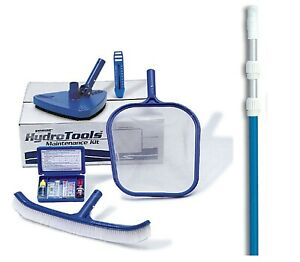 Hydrotools-8610-Premium-Swimming-Pool-Maintenance-Kit-w-7-039-21-039-Telescopic-Pole