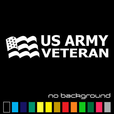 US Army Retired Sticker Vinyl Decal Car Window Veteran Military Pride Soldier