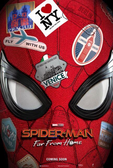 "Spider-Man: Far From Home 2019 Movie Teaser Poster Art Print 21×14 27×40"" 32×48"""