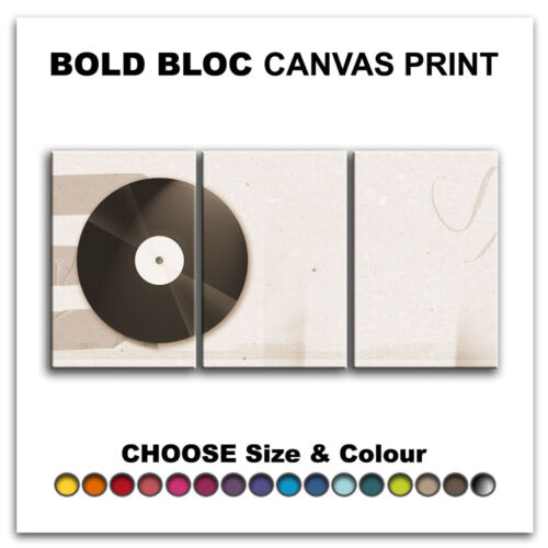Vinyl Record MUSIC DJ CLUB  Canvas Art Print Box Framed Picture Wall Hanging BBD