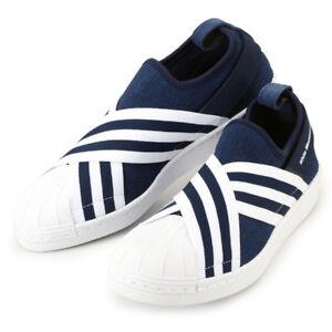 8ed2d2c178e6 Mens Adidas Originals WM Superstar Slip on BY2879 Navy White SZ 7-13 ...