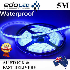 12V-Blue-Waterproof-Flexible-LED-Strip-Lights-5M-300-LED-3528-SMD-Light-car-boat