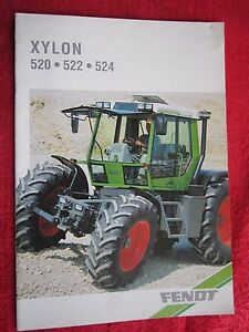 Details about VINTAGE 1995 FENDT XYLON 520, 522, & 524 TRACTOR 16 PAGE  BROCHURE (FRENCH TEXT)