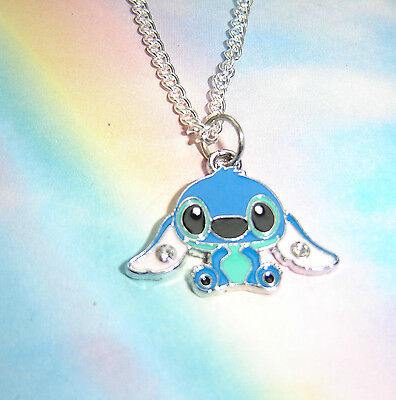 LILO AND STITCH CHARACTER PENDANT CHARM NECKLACE ANGEL SCRUMP & RAG DOLL