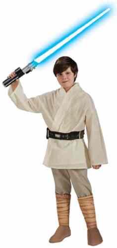 Luke Skywalker Star Wars Classic Jedi Knight Fancy Dress Halloween Child Costume