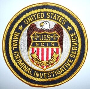 USA NCIS POLIZEI Aufnäher Patch Us Police Military