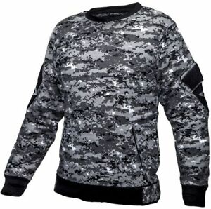 Tactical-Recon-Military-Fleece-Crew-Neck-Army-Combat-Pull-Over-Sweater-Digital